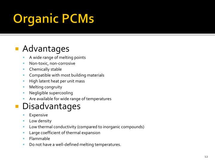 Organic PCMs