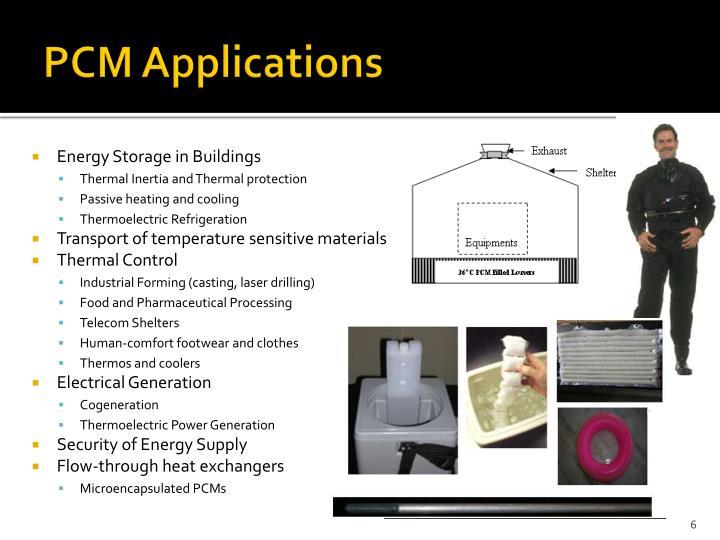 PCM Applications