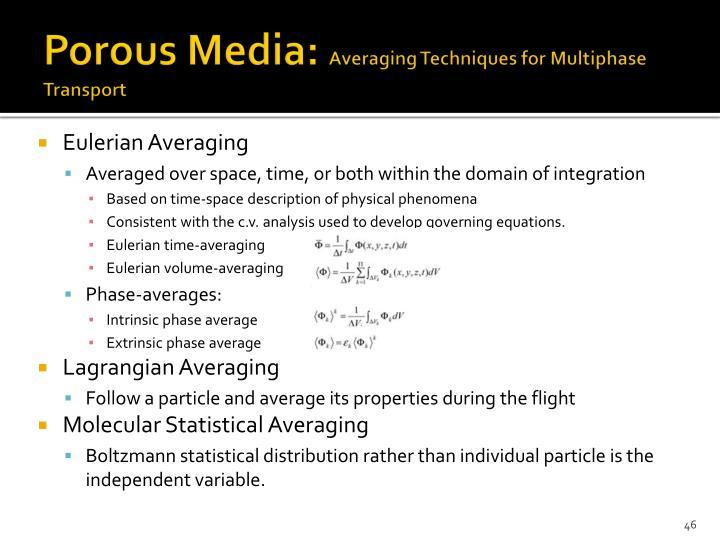 Porous Media: