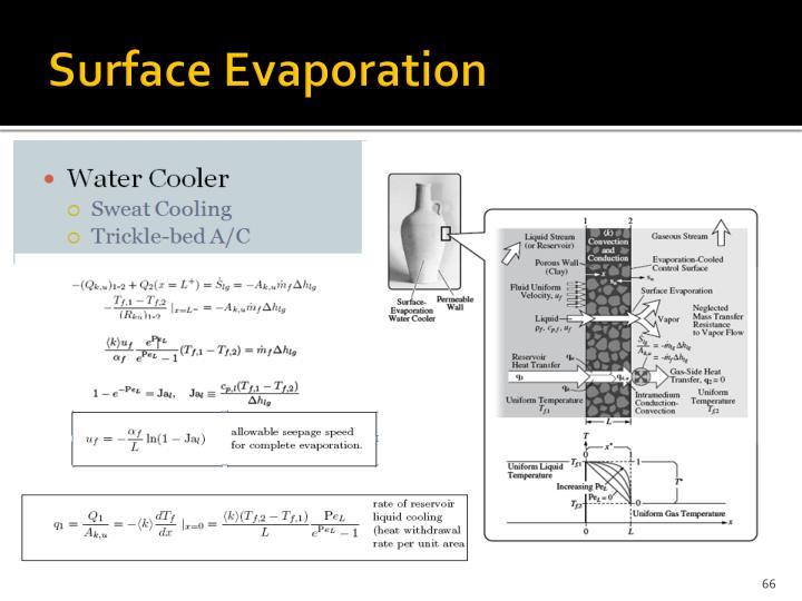 Surface Evaporation