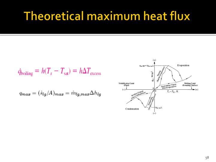 Theoretical maximum heat flux
