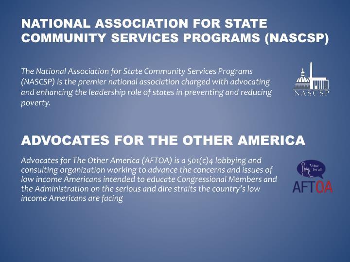 National association for state community services programs nascsp