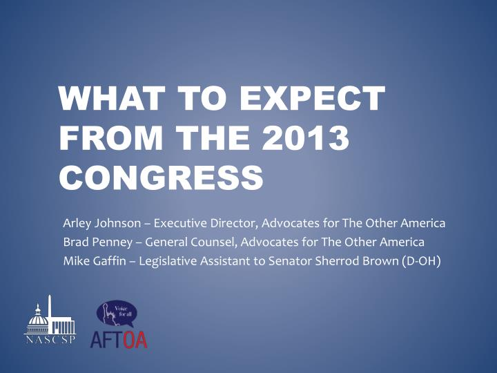 What to expect from the 2013 congress
