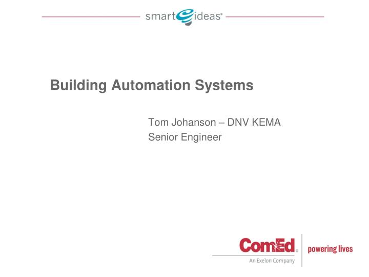 building automation systems n.