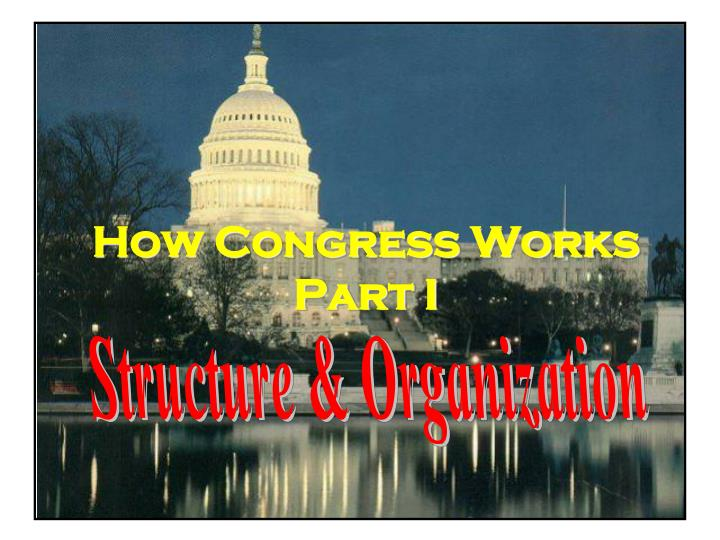how congress works part i n.