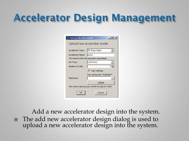 Accelerator Design Management