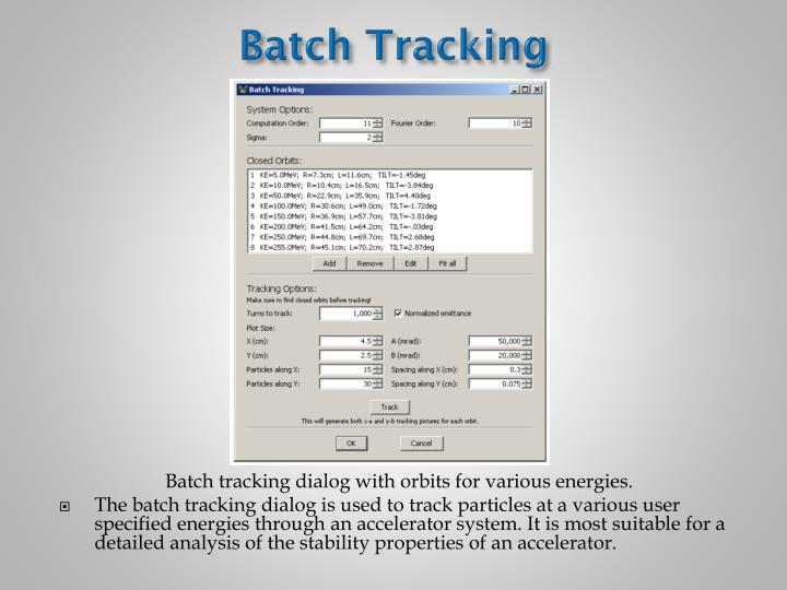 Batch Tracking