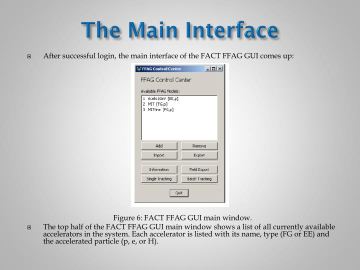 The Main Interface