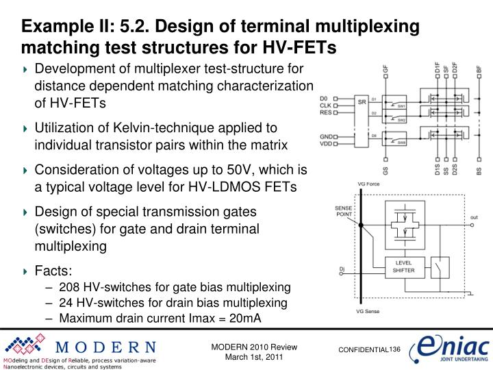 Example II: 5.2. Design of terminal multiplexing matching test structures for HV-FETs