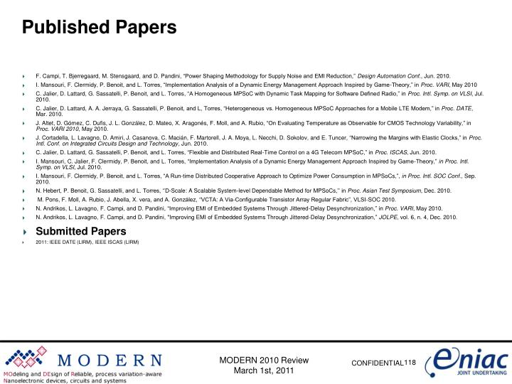 Published Papers