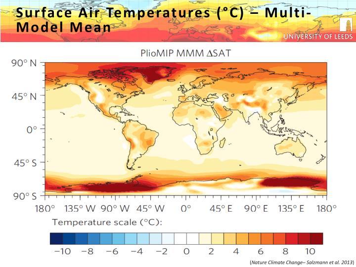 Surface Air Temperatures (°C)