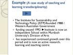 example a case study of teaching and learning transdisciplinarity