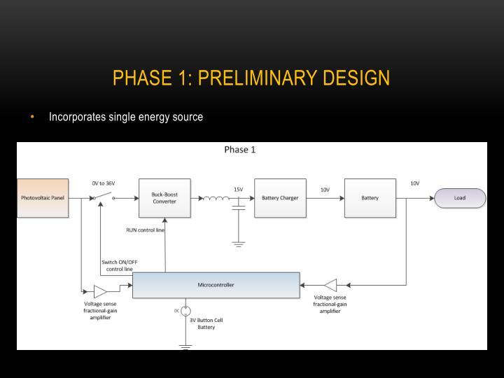 Phase 1: Preliminary Design