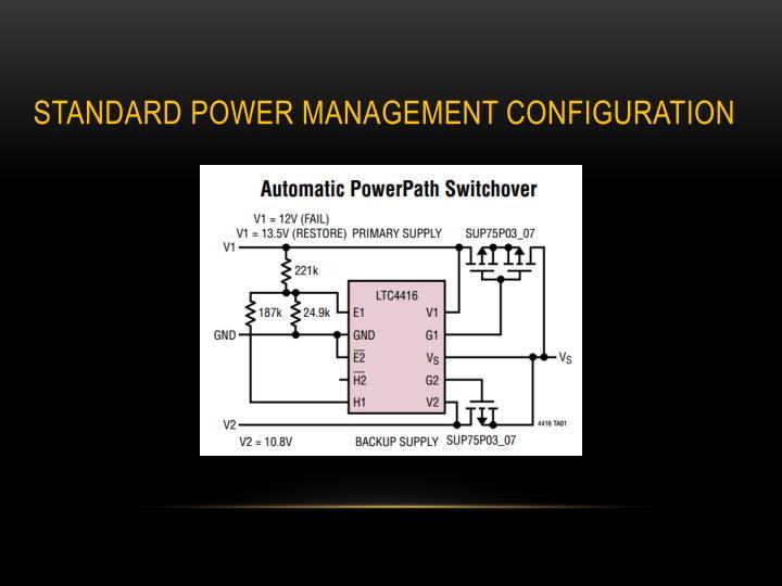 Standard Power management configuration