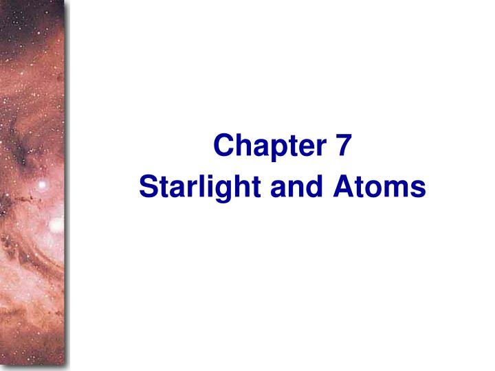 starlight and atoms n.
