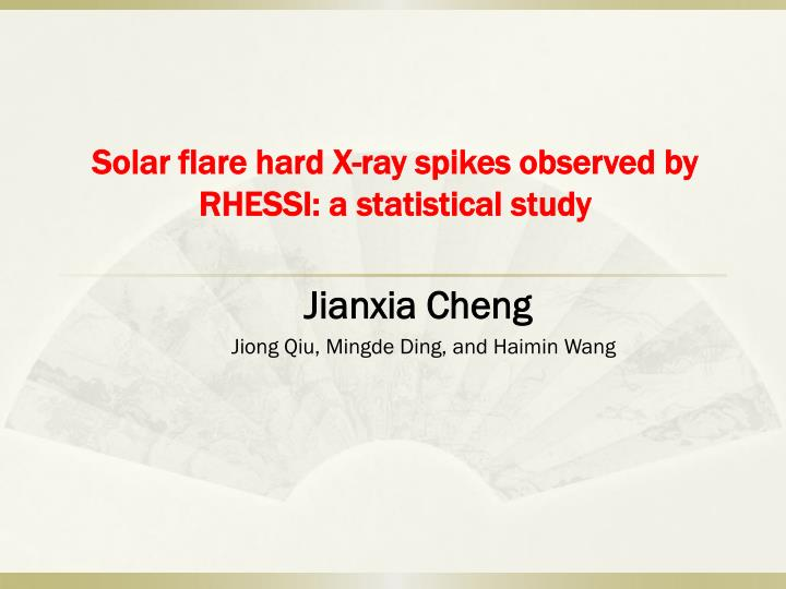 solar flare hard x ray spikes observed by rhessi a statistical study n.