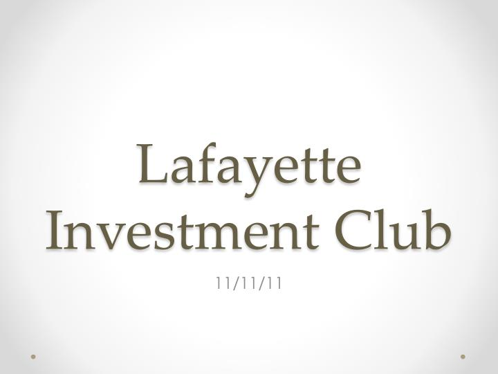 lafayette investment club n.
