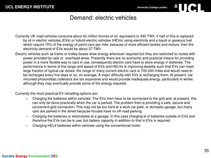 Demand: electric vehicles
