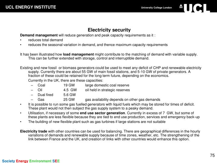 Electricity security