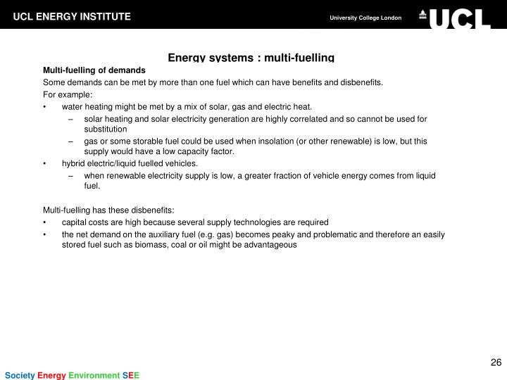 Energy systems : multi-fuelling