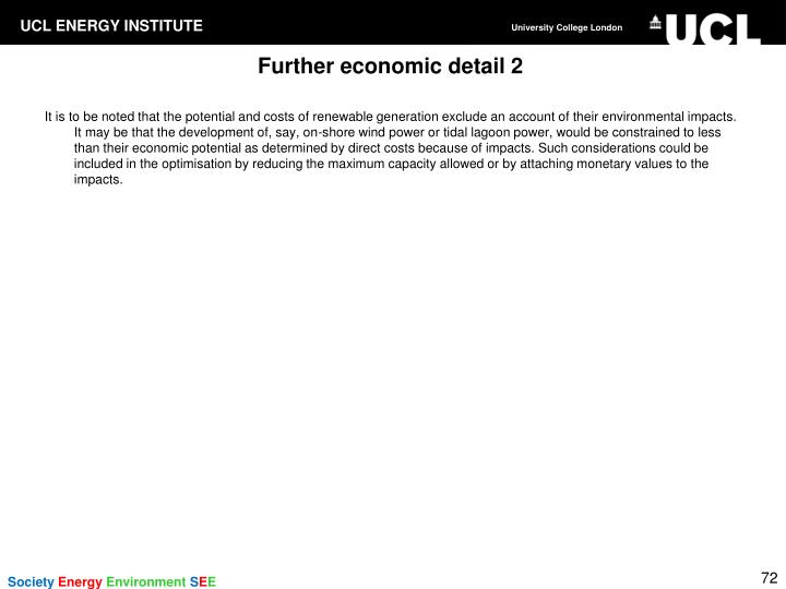 Further economic detail 2