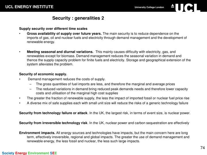 Security : generalities 2