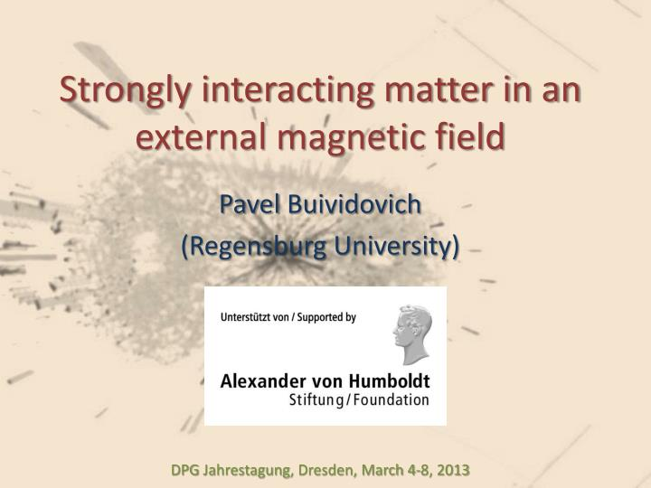 strongly interacting matter in an external magnetic field n.