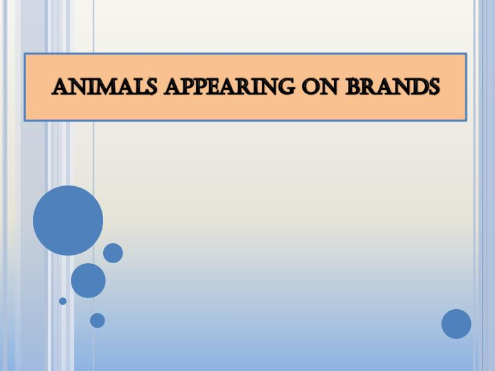 animals appearing on brands n.