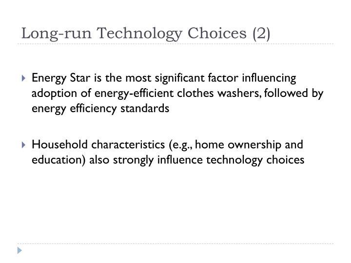 Long-run Technology Choices (2)