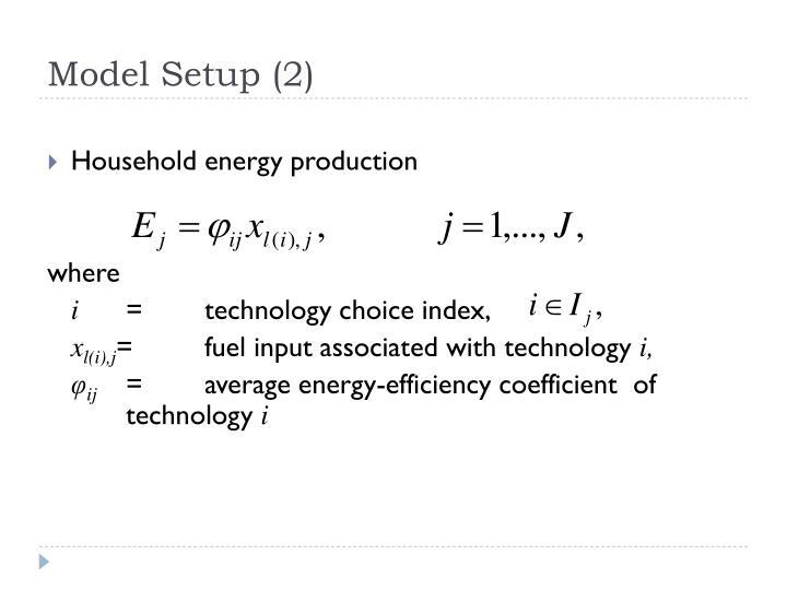 Model Setup (2)