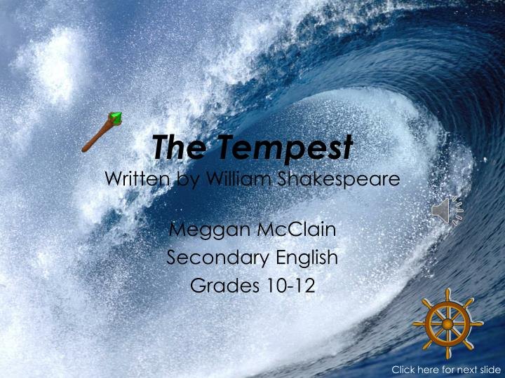 the tempest written by william shakespeare n.