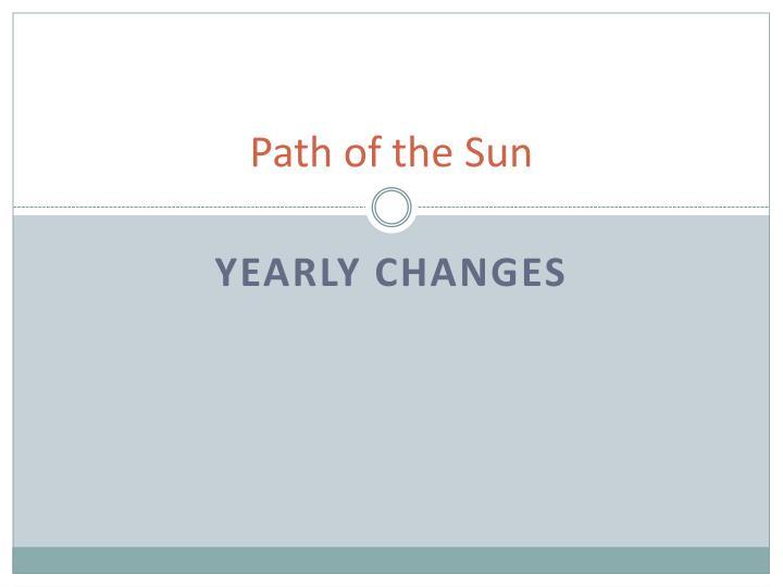 Path of the sun
