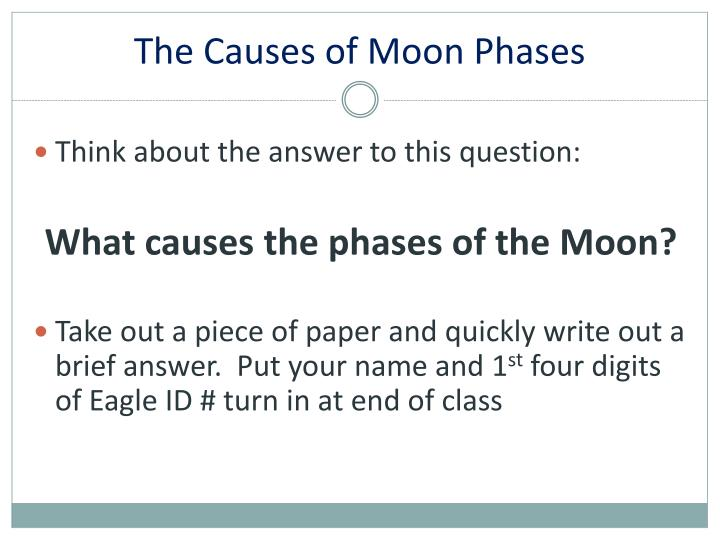 The Causes of Moon Phases