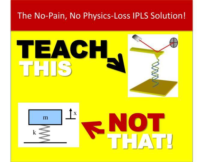 The No-Pain, No Physics-Loss IPLS Solution!