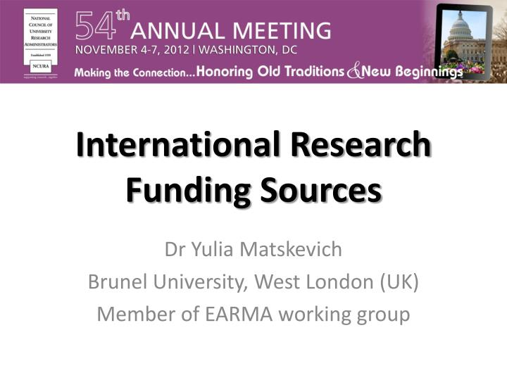 international research funding sources n.