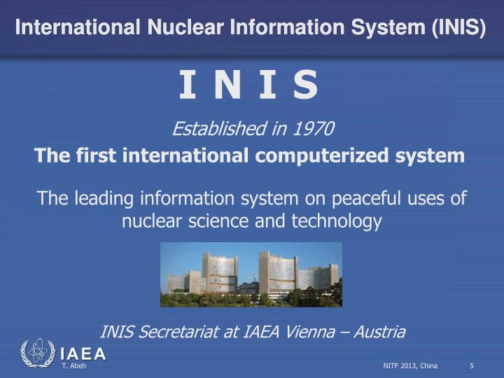 the origins of the international nuclear information system inis Free online cbse ugc net guide book covers the solved international nuclear information system in a transportation problem involving 10 origins and 5.