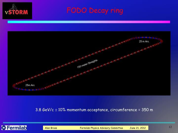 FODO Decay ring