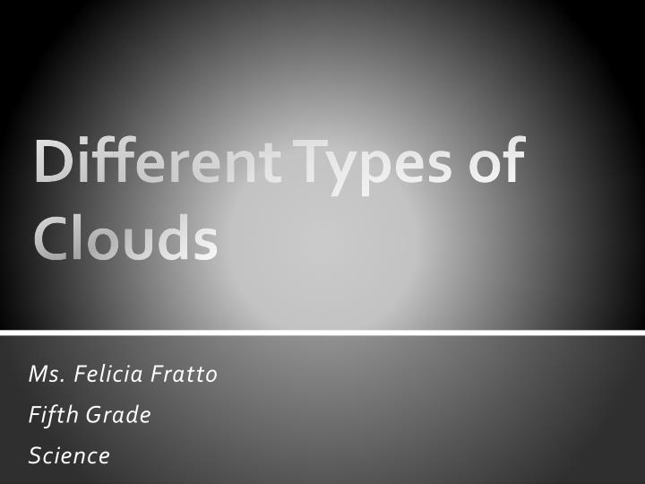 different types of clouds n.