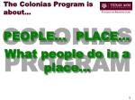 the colonias program is about