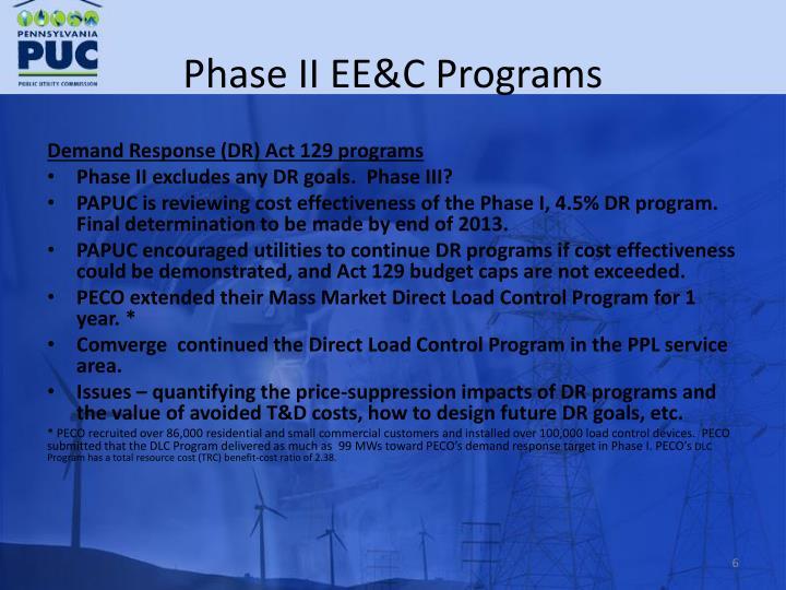 Phase II EE&C Programs