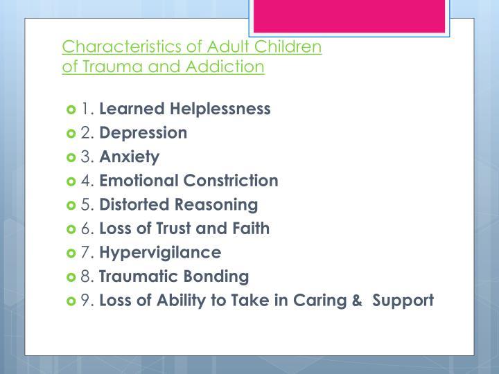 Characteristics of Adult Children