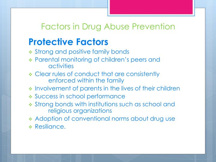 Factors in Drug Abuse