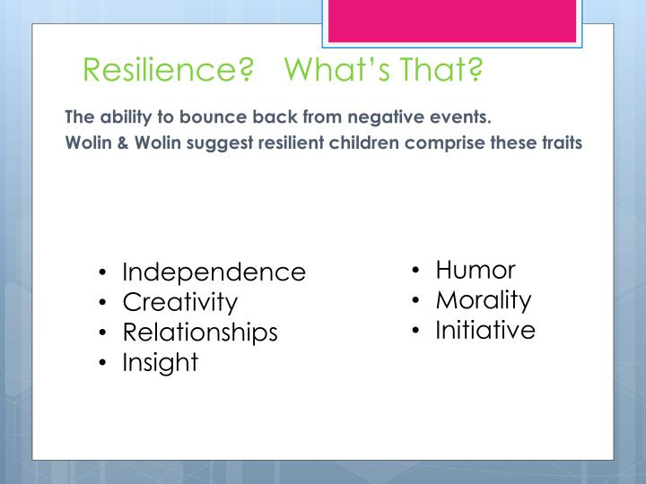 Resilience?   What's That?