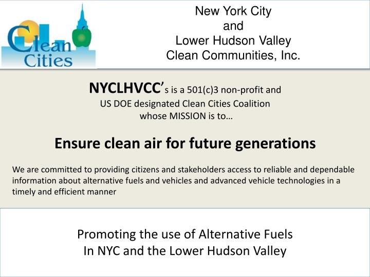 new york city and lower hudson valley clean communities inc n.