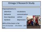 omega 3 research study