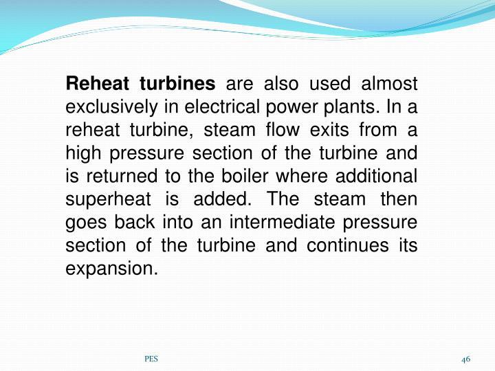 Reheat turbines