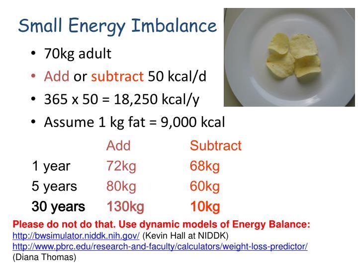 Small Energy Imbalance