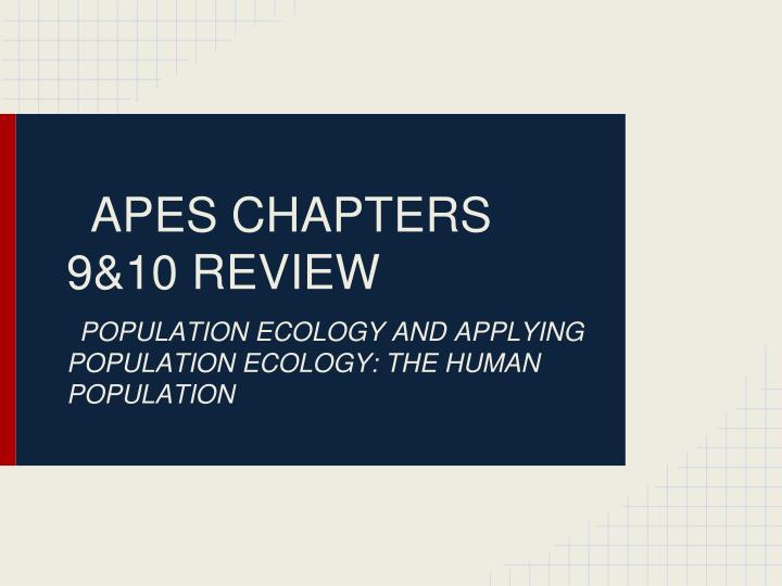 apes chapters 9 10 review n.