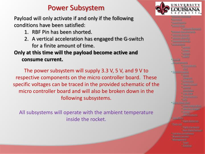Power Subsystem