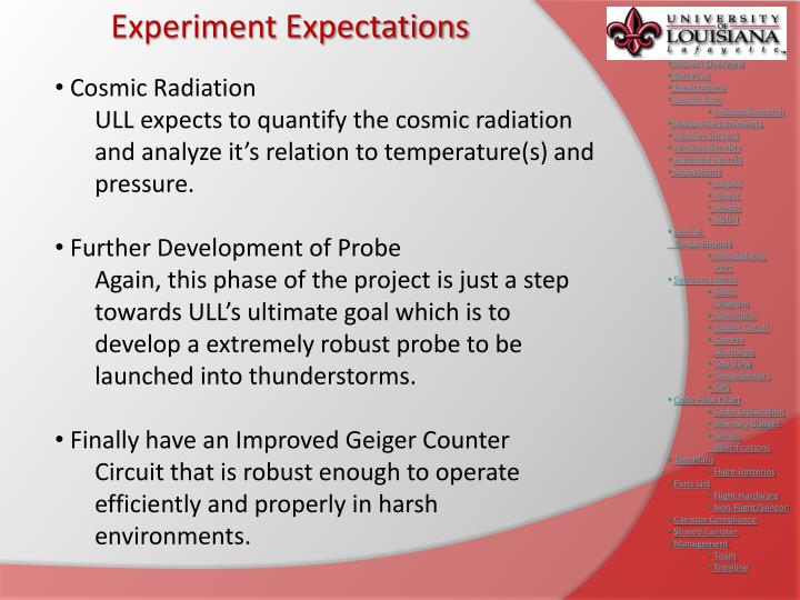 Experiment Expectations
